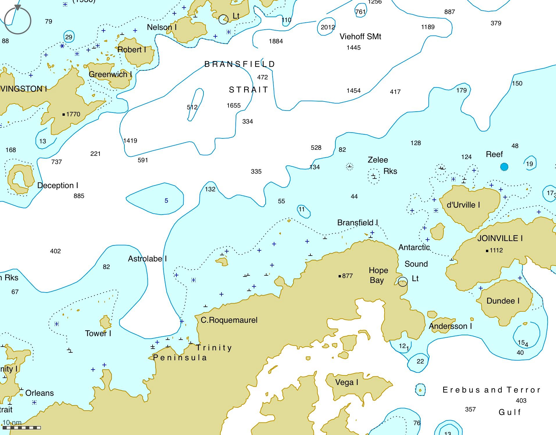Bransfield strait chart