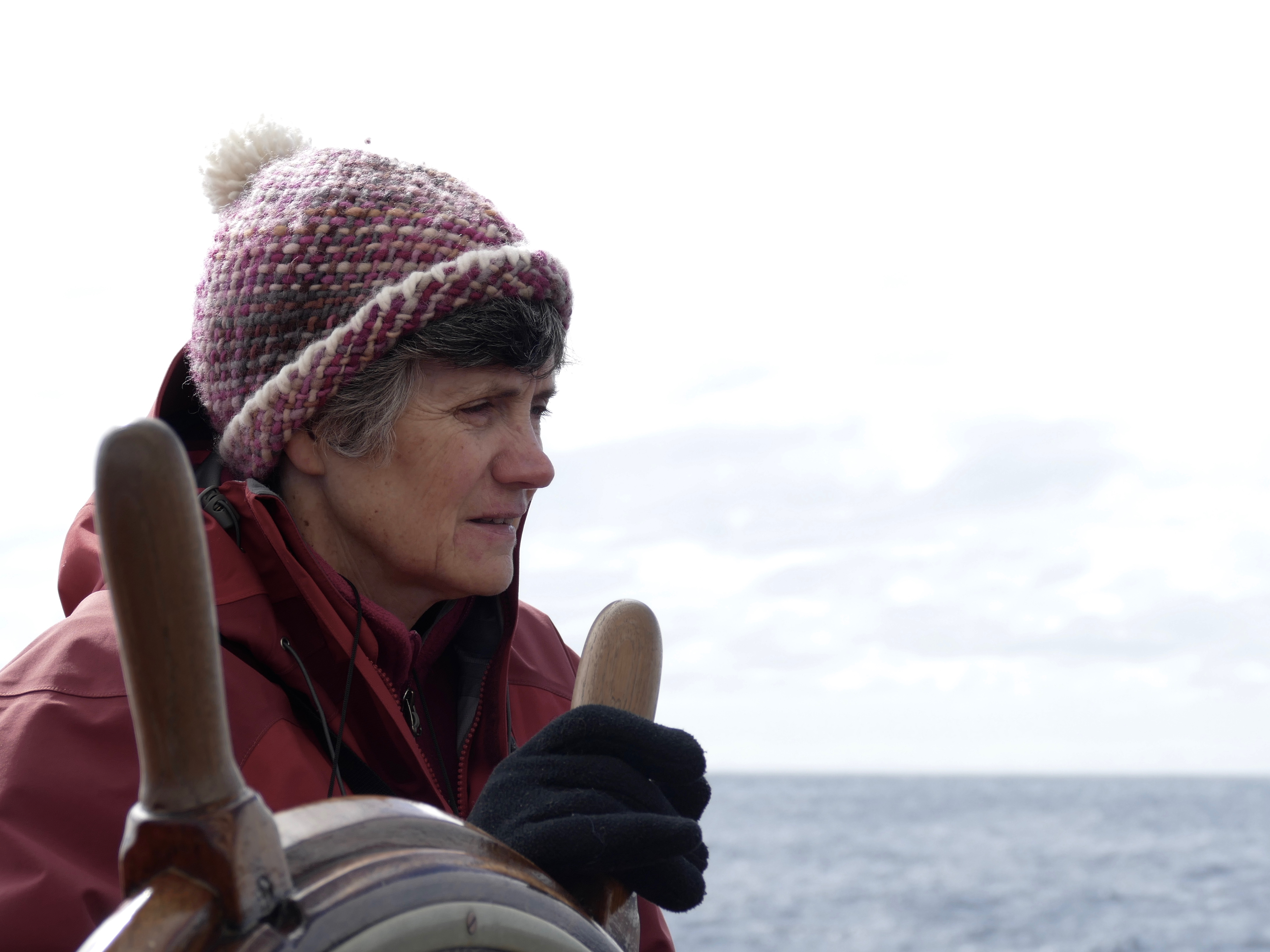 Sharon at the helm on Europa