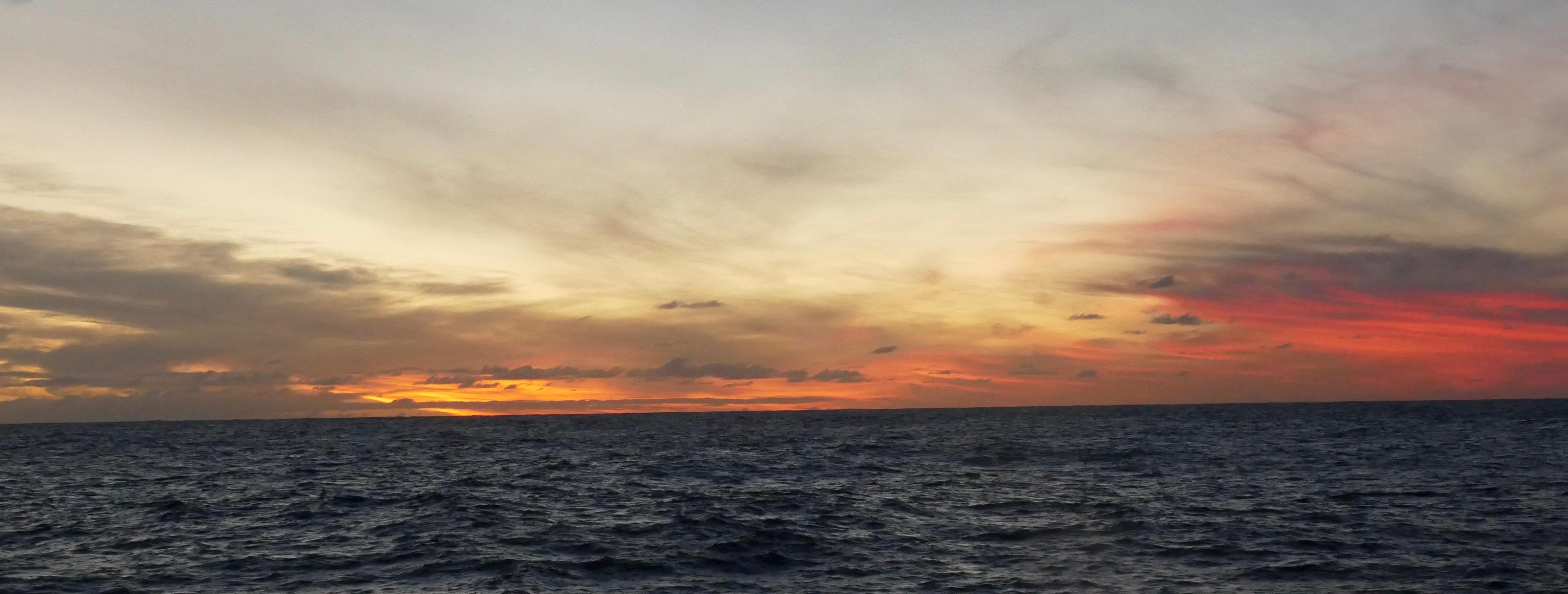 sunset, storm, south Atlantic