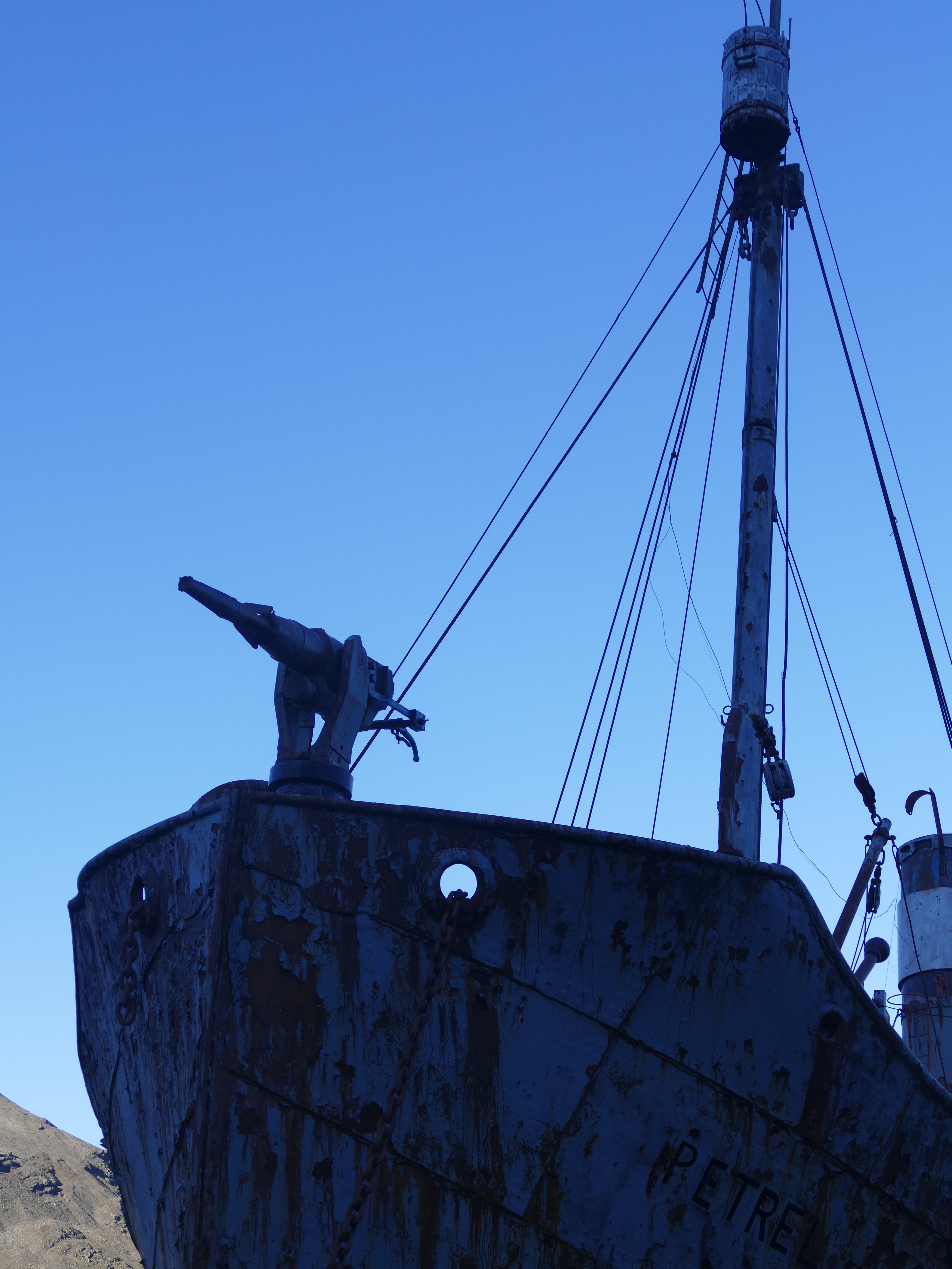 Petrel, a whaling chase boat at Grytviken