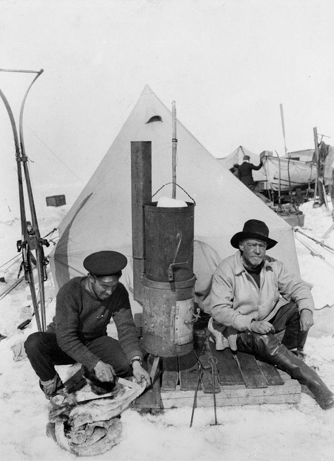 Shackleton and Haurley at Ocean Camp