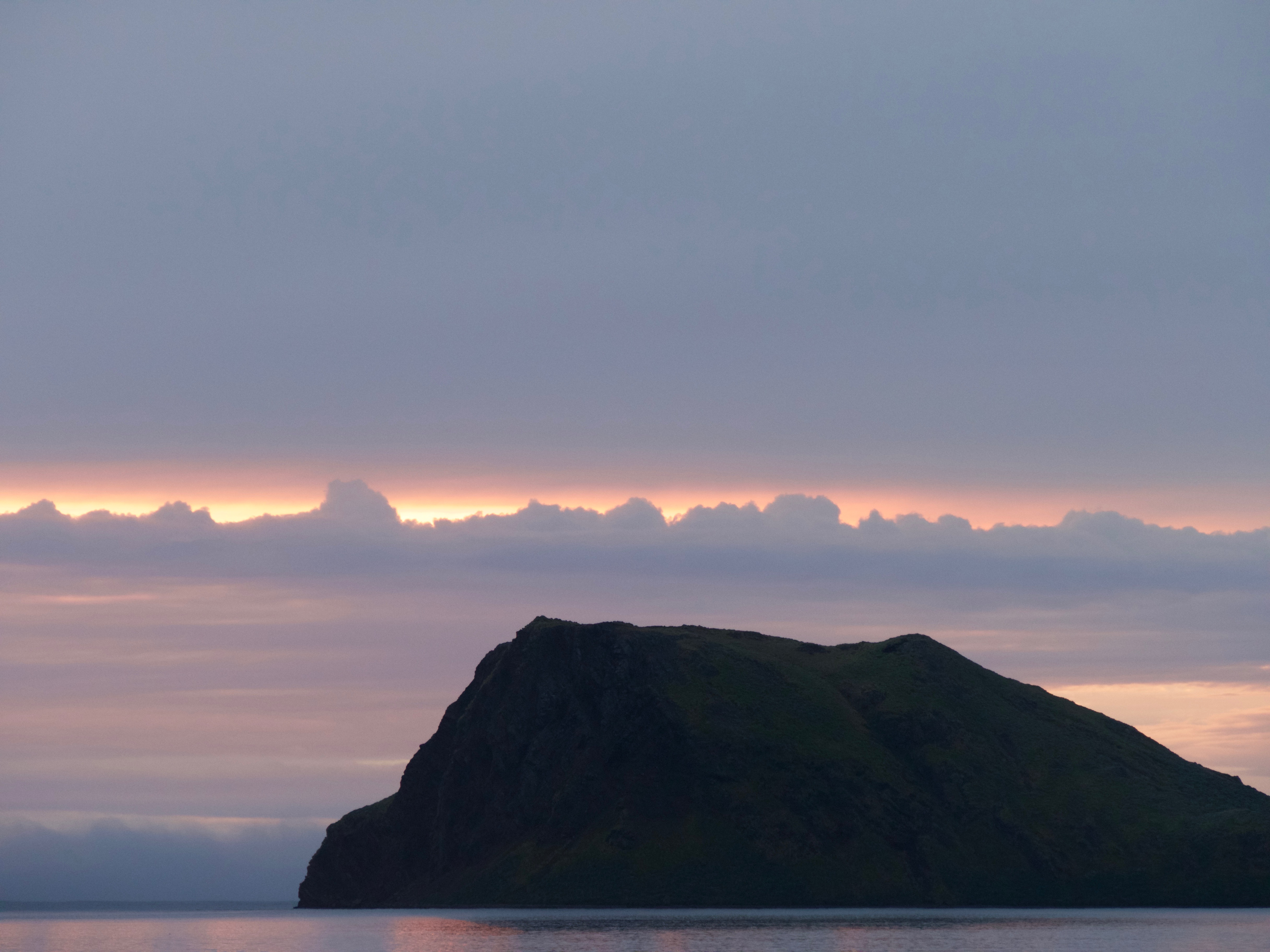 Sunrise over Grass Island, Stromness, before leaving for Maiviken