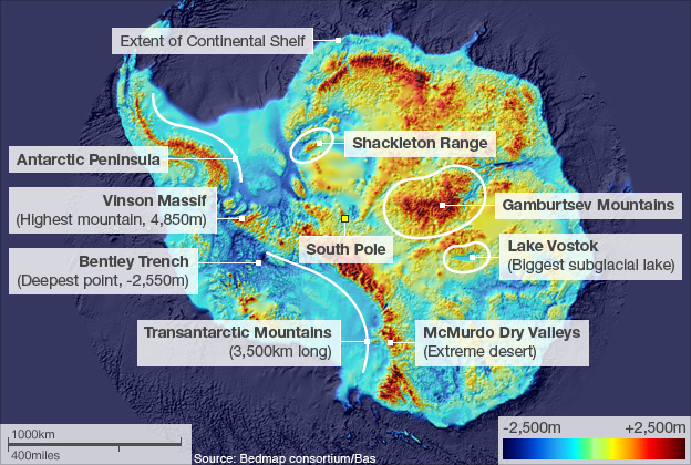 Burning oil melts ice: what would the topography of fice-free Antarctica be?