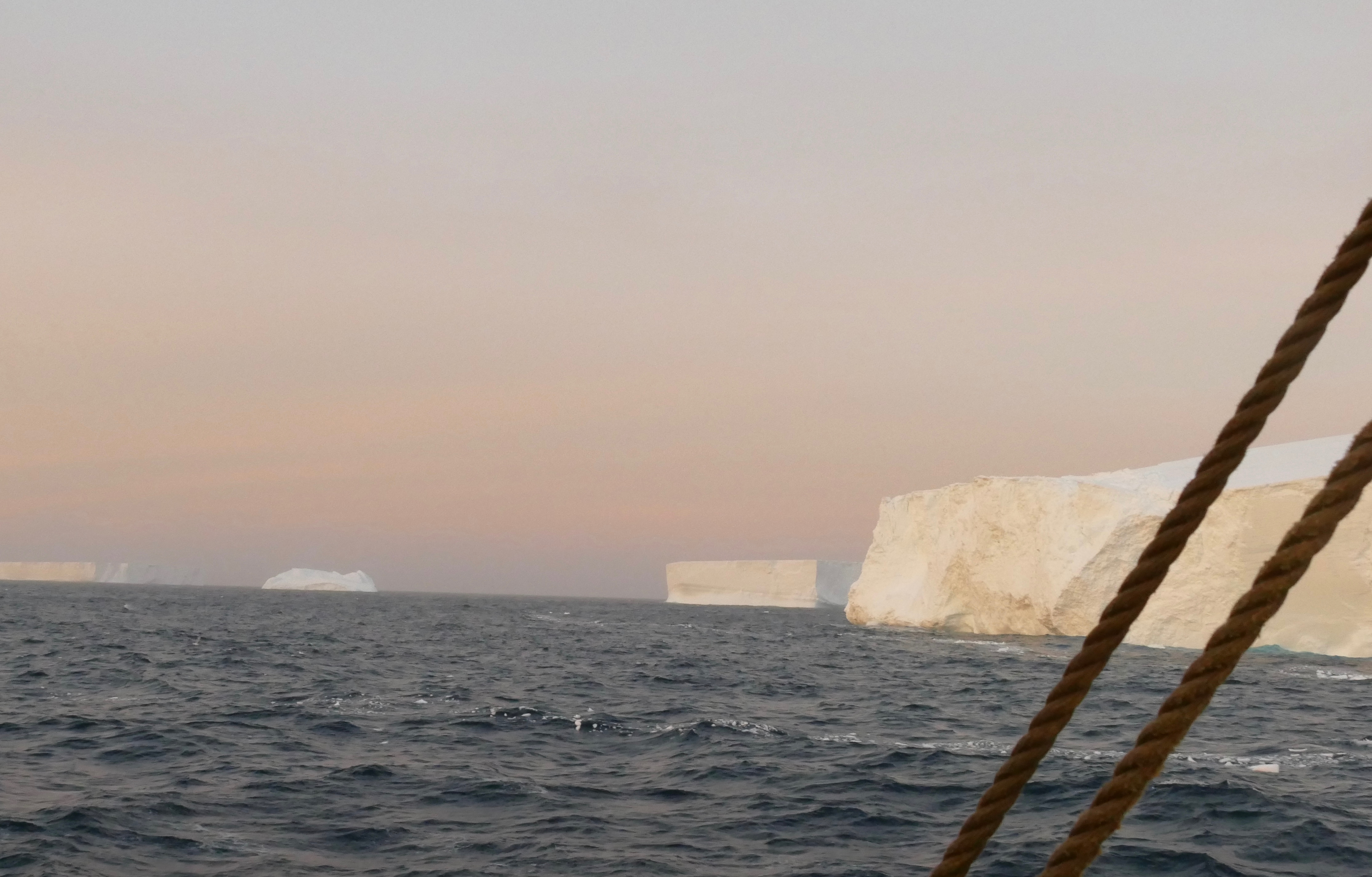 Icebergs at the mouth of the Antarctic Sound