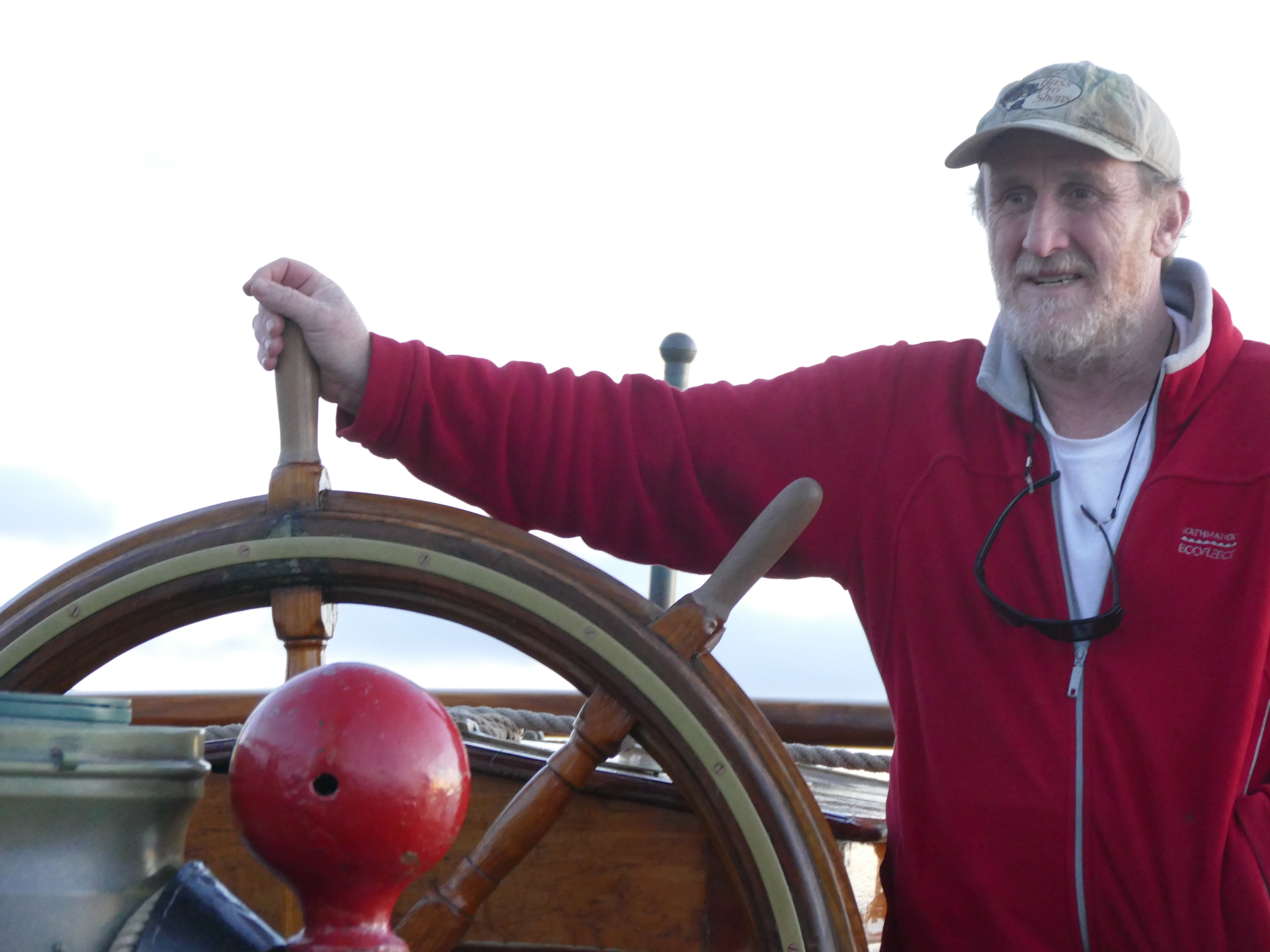Greg on the helm of Europa