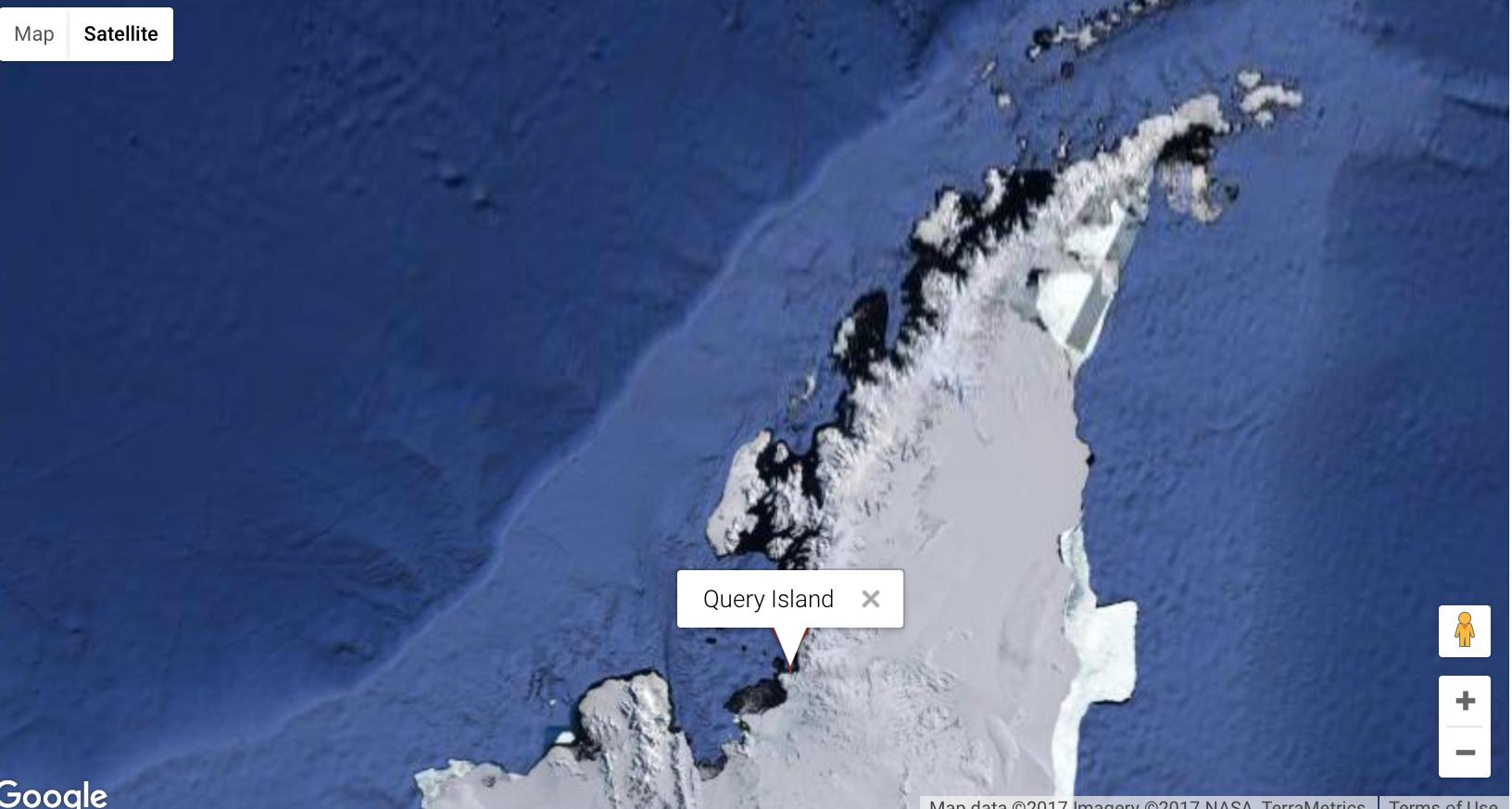 Query Island in Mikkelsen Bay, Antarctic Peninsula