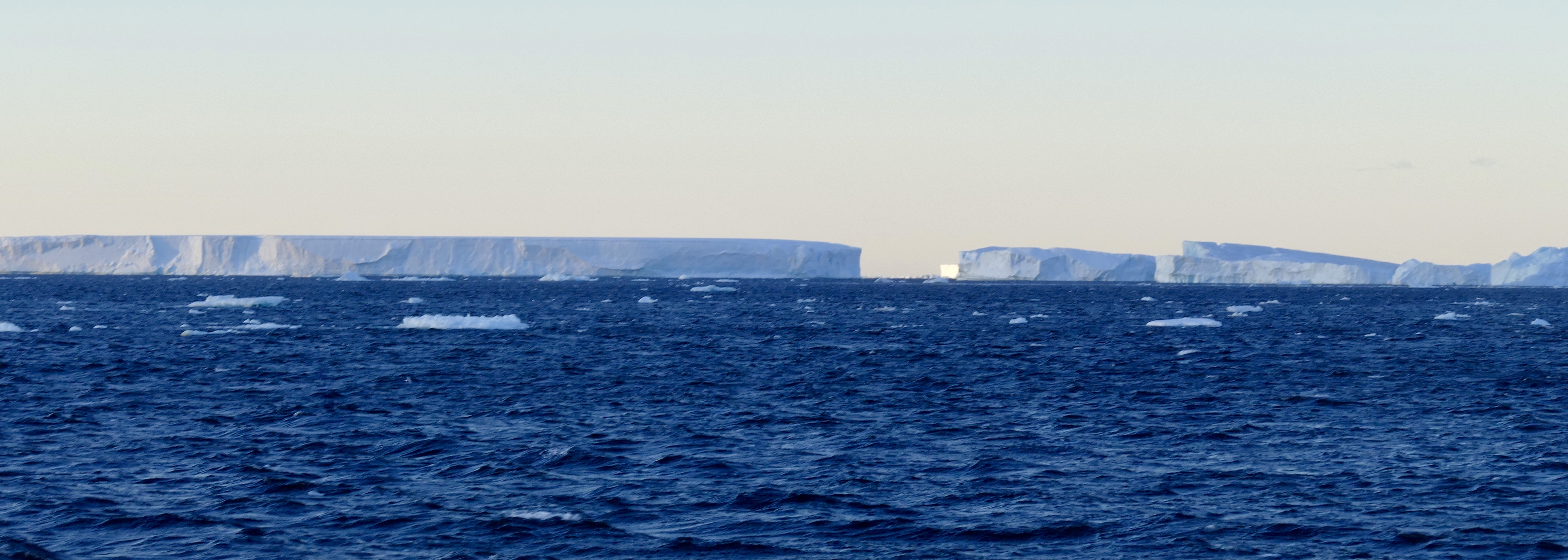 Icebergs, and possibly islands, in the Weddell Sea